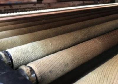 Kevlar para hornos de templado y lineas de laminado