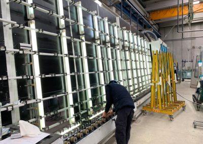 Maquinaria para la fabricación de doble acristalamiento
