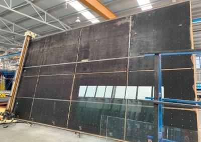 Mesa de corte para vidrio monolítico segunda mano Bottero 6 x 3.21 metros