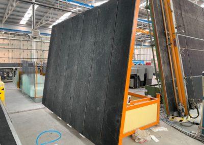 Mesa de carga basculante con correas para vidrio segunda mano Turomas