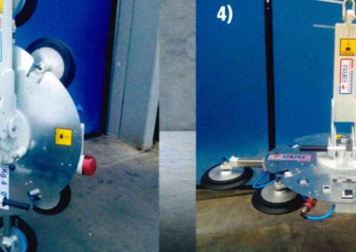 Ventosa de segunda mano Eberle 6 platos basculante , giratoria y autónoma con batería